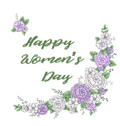 Women s day greeting card with beautiful blossom vector
