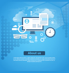 about us contact information template web banner vector image vector image