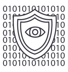 software securityanti virus line icon vector image