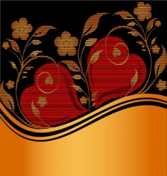 striped floral ornament vector image vector image