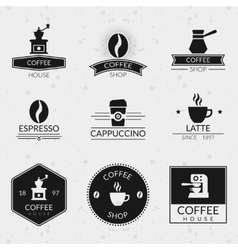 Vintage coffee labels and logos set vector image vector image