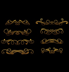 vintage golden monograms vector image