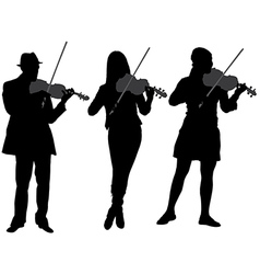 Violinist Silhouette vector image