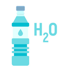bottle of water flat icon fitness and sport vector image
