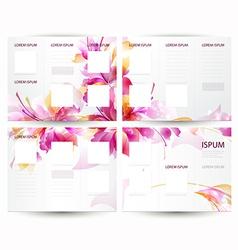 Brochure backgrounds vector image