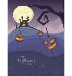 halloween purple template vector image