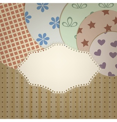 lacy napkin vector image
