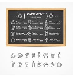 Menu Black Board vector image vector image