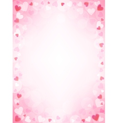 Pink background with hearts vector image