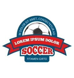 Round soccer logo template isolated on vector image vector image