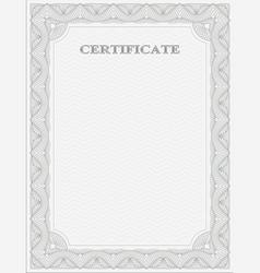 Vertical certificate template vector