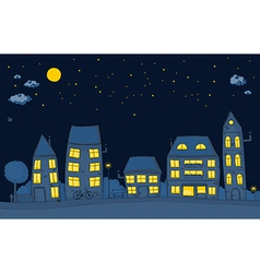 cute street night vector image vector image