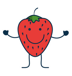 happy fruits design vector image