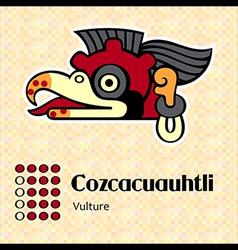 Aztec cozcacuauhtli vector