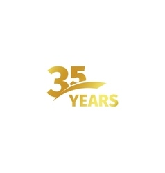 Isolated abstract golden 35th anniversary logo on vector image vector image