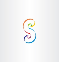 letter s colorful ribbon logo vector image