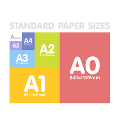 standard paper sizes a series set vector image vector image