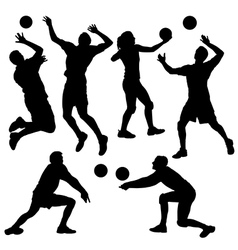 Volleyball Silhouette vector image vector image