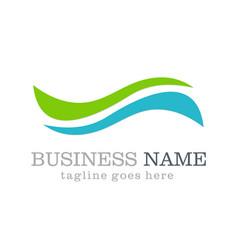 wave abstract logo design vector image