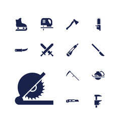 13 blade icons vector