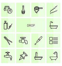 14 drop icons vector