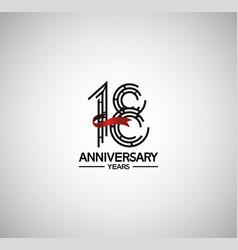 18 years anniversary logotype flat design vector