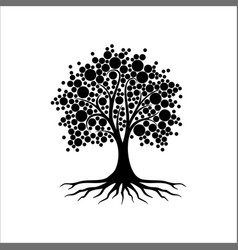 abstract vibrant tree logo design root vector image