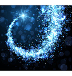 Abstract winter background with blue swirl vector image