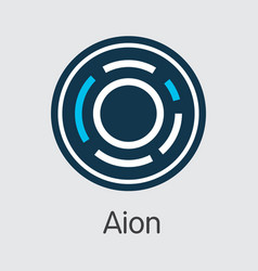 Aion crypto currency - sign icon vector