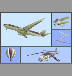 air transport set vector image