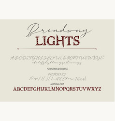 alphabet calligraphy signs vector image