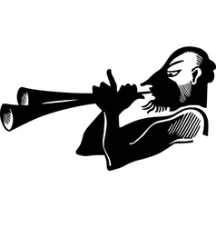 Antique horn player vector image