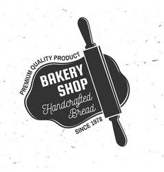 Bakery shop concept for badge shirt vector