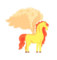 beautiful pegasus winged horse mythical and vector image