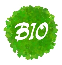 Bio lettering vector image