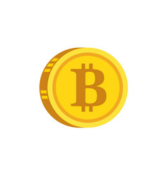 bitcoin digital gold concept icon vector image