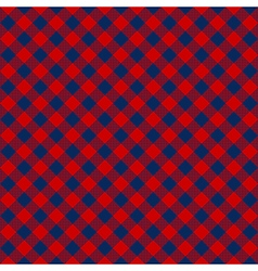 Blue red check diagonal fabric texture seamless vector image