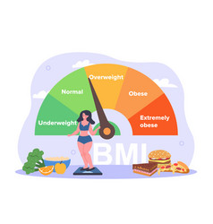 body mass index concept vector image