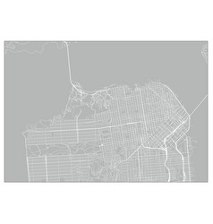 city map san francisco vector image