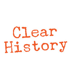 Clear history stamp on white vector