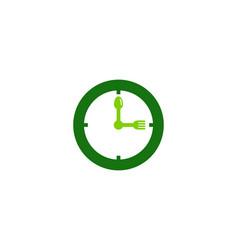 clock food logo icon design vector image