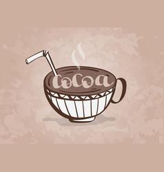 cocoa mug hand drawn vector image