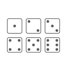 Craps icon set vector