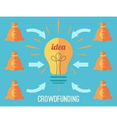 Crouwdfunding concept vector