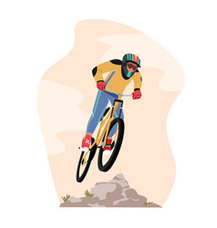 Cyclist sportsman character in sports wear vector
