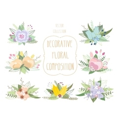 Decorative floral composition vector