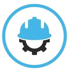 Development Helmet Flat Icon vector image
