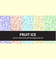 diamond pattern set fruit ice seamless vector image