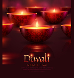 Diwali celebration poster vector