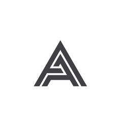 Double a letter logo lettermark aa monogram type vector
